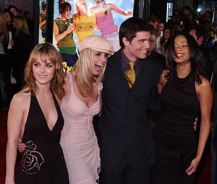 Taryn Manning, Britney Spears, Anson Mount, and Zoe Saldana