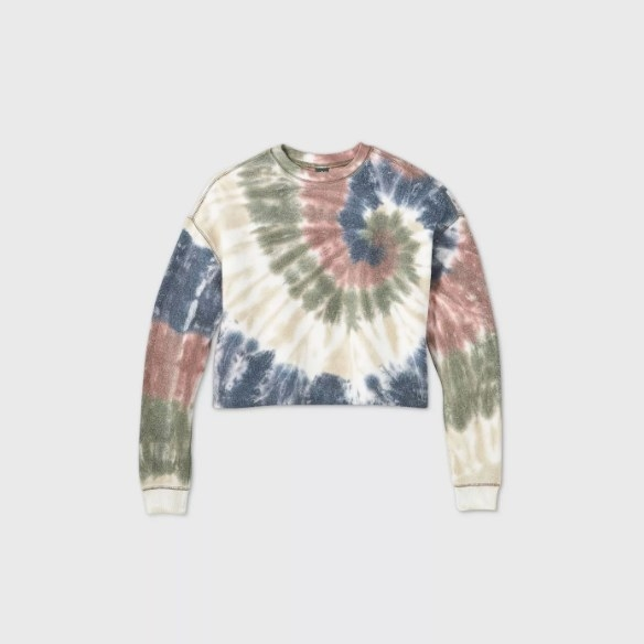 The tie-dye sweater