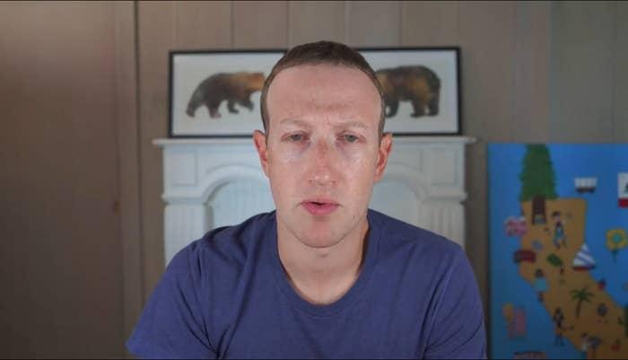 Facebook CEO Mark Zuckerberg looking tired