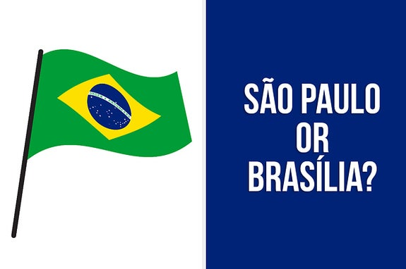 Brazil flag with the question