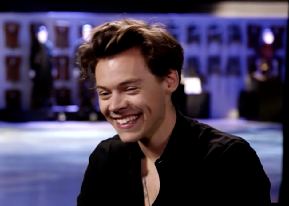 Harry Styles laughs
