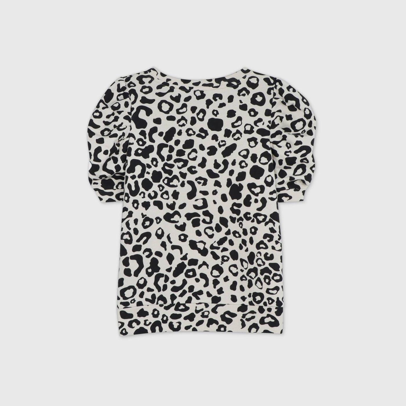 The leopard print sweatshirt