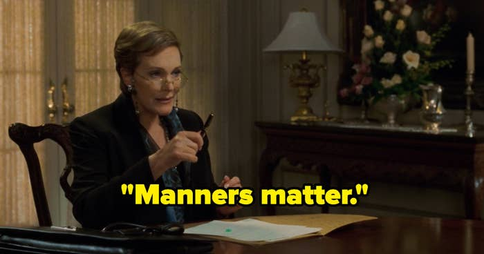 """Clarisse saying, """"Manners matter."""""""