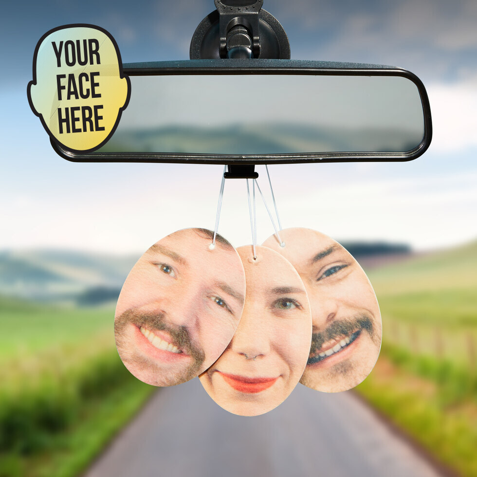 the air freshener in three different faces