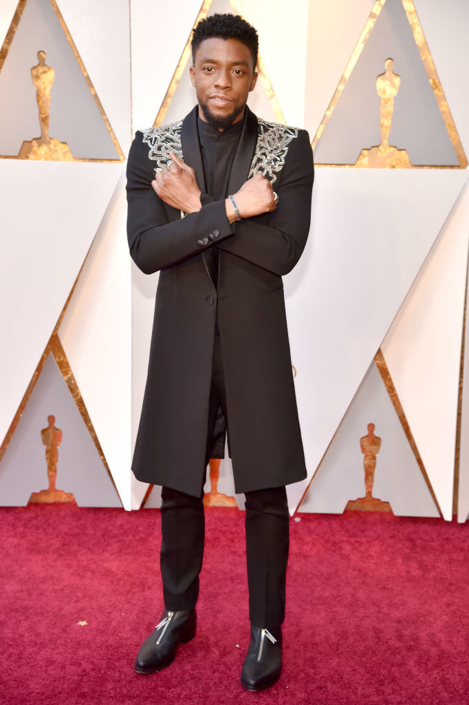 Chadwick at the Oscars in 2018