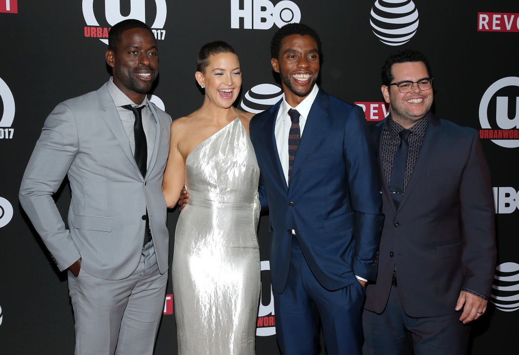 Sterling K. Brown, Kate Hudson, Chadwick Boseman and Josh Gad at the Urbanworld Film Festival