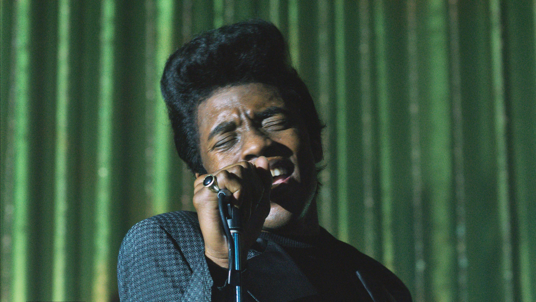 Chadwick Boseman singing as James Brown