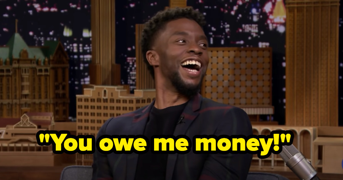 """Chadwick laughing and saying, """"You owe me money!"""""""