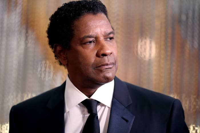Denzel Washington looking to the side