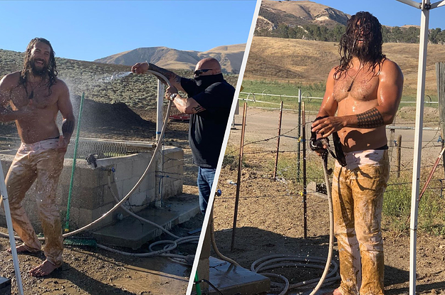 Jason Momoa Posted Shirtless Photos Of Himself Covered In Mud, And Somehow Its Still A Thirst Trap