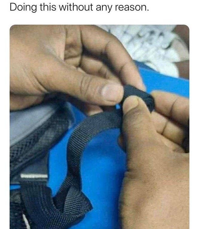 Picture of backpack straps being rolled up