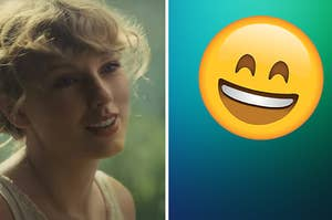 Taylor swift as a smiley emoji