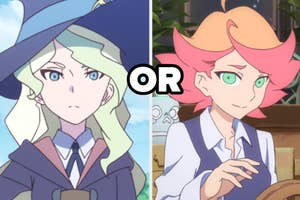 Characters Amanda and Diana from Little Witch Academia