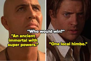 Imhotep side-by-side with Rick O'Connell from
