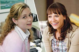 Pam Beesly and Ann Perkins smiling together