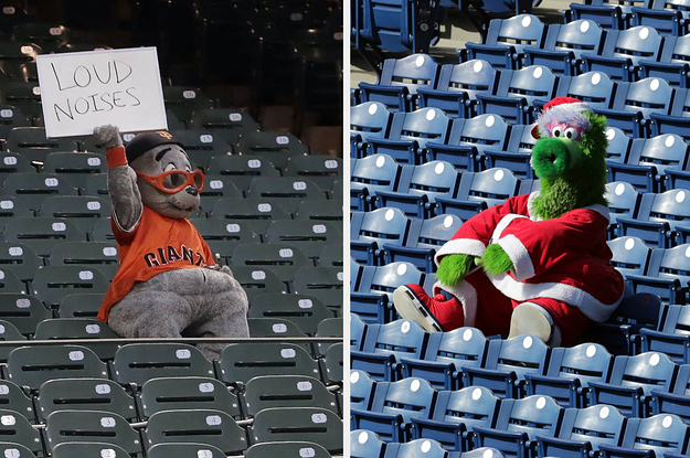 These Photos Of Lonely Baseball Mascots In Empty Stadiums Are A Whole Mood