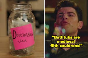 The douchebag jar and Schmidt saying