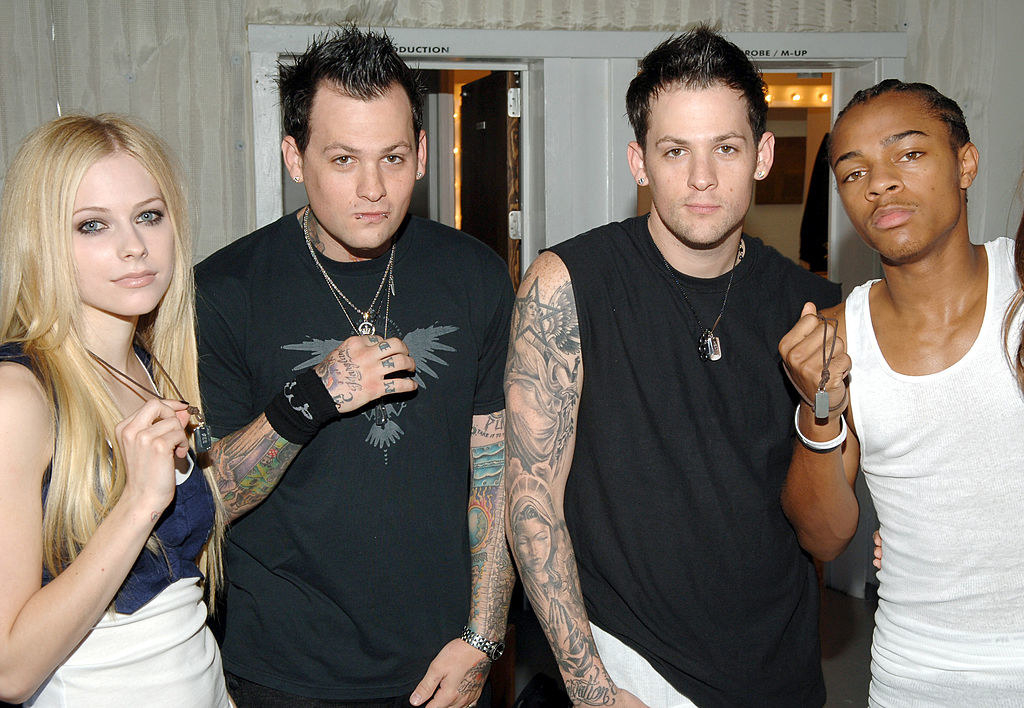 Avril Lavigne, Joel and Benji Madden from Good Charlotte, and Bow Wow