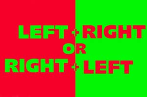 Left and right or right and left