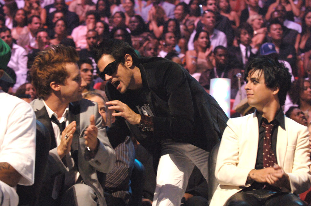 Johnny Knoxville and Green Day at the VMAs