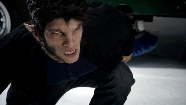 Scott in wolf form at the ice skating rink