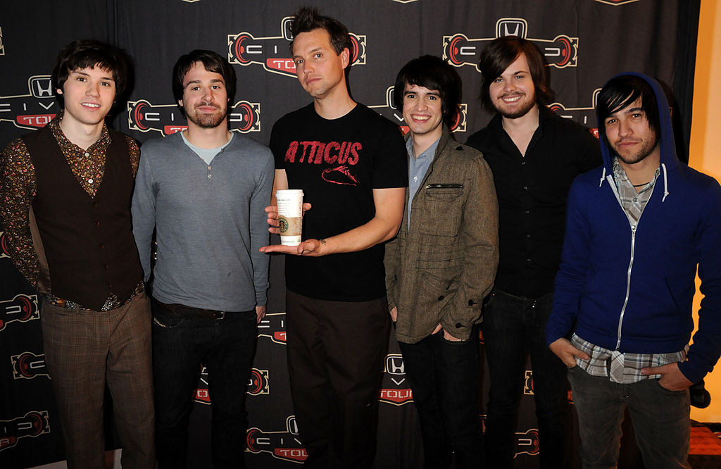 Mark Hoppus with Panic! At the Disco and Pete Wentz