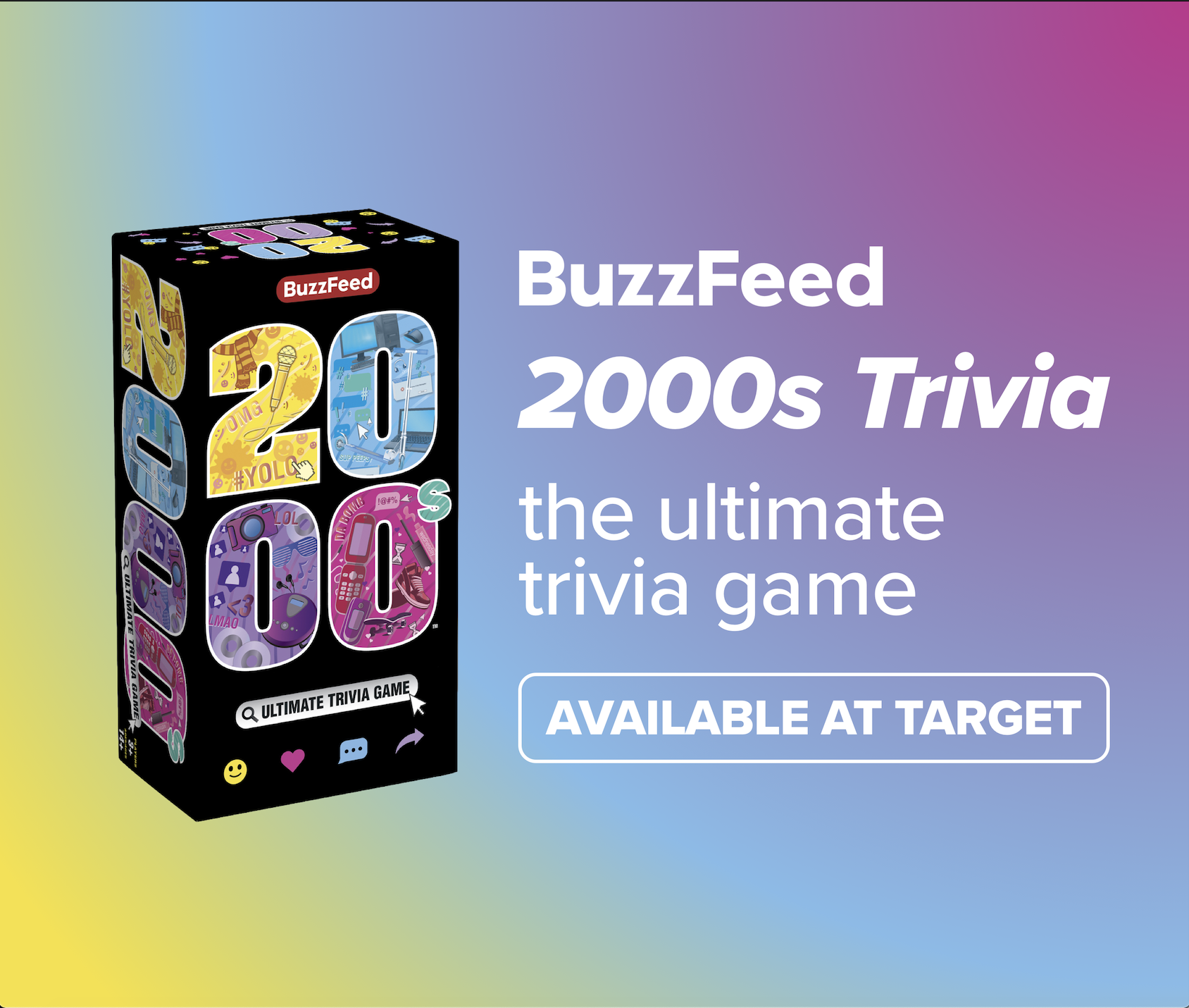 BuzzFeed's New 2000s Trivia Card Game, Available at Target Now