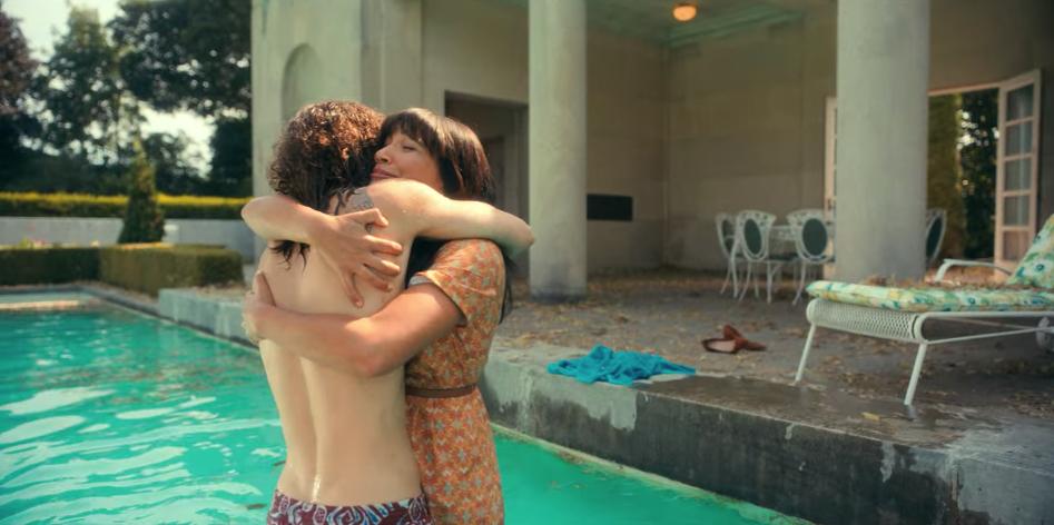 Klaus and Alison hugging