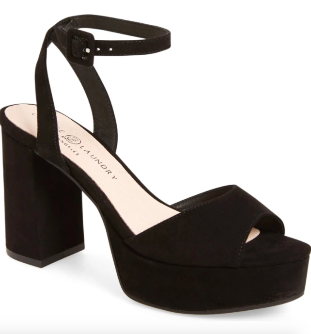 The Chinese Laundry Theresa Platform Sandal in black.