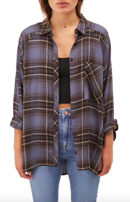 The BDG Urban Outfitters Brendon Plaid Flannel Shirt.