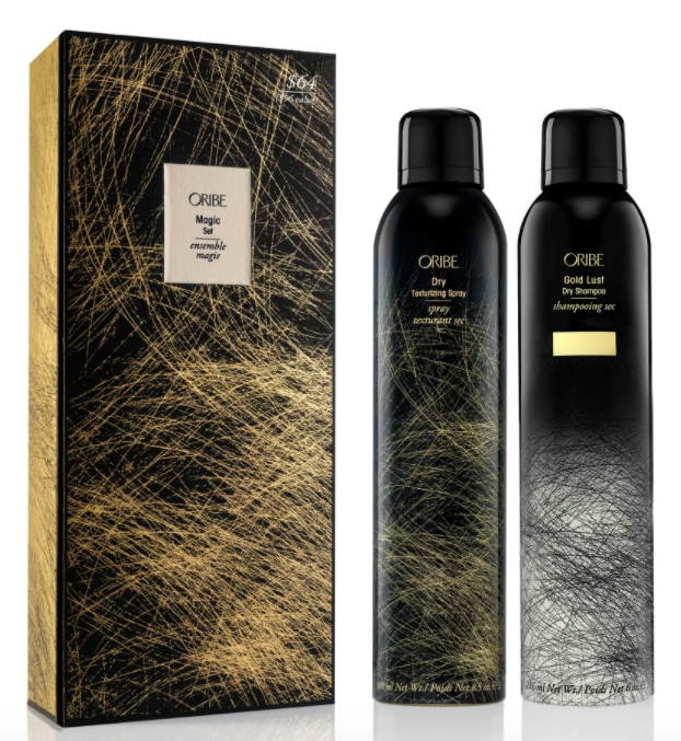The full-size Gold Lust Dry Shampoo and Dry Texturizing Spray set.