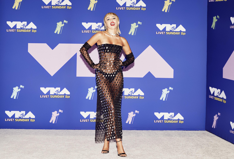 Miley Cyrus at the 2020 MTV VMAs.