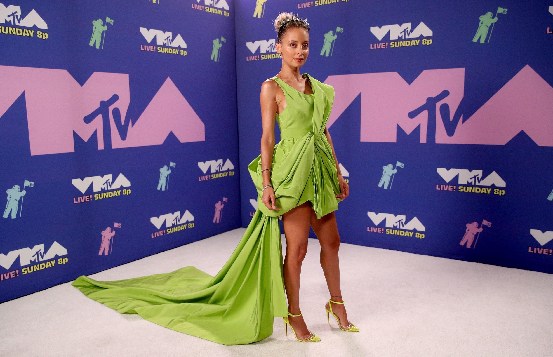 Nicole Richie at the 2020 MTV VMAs.