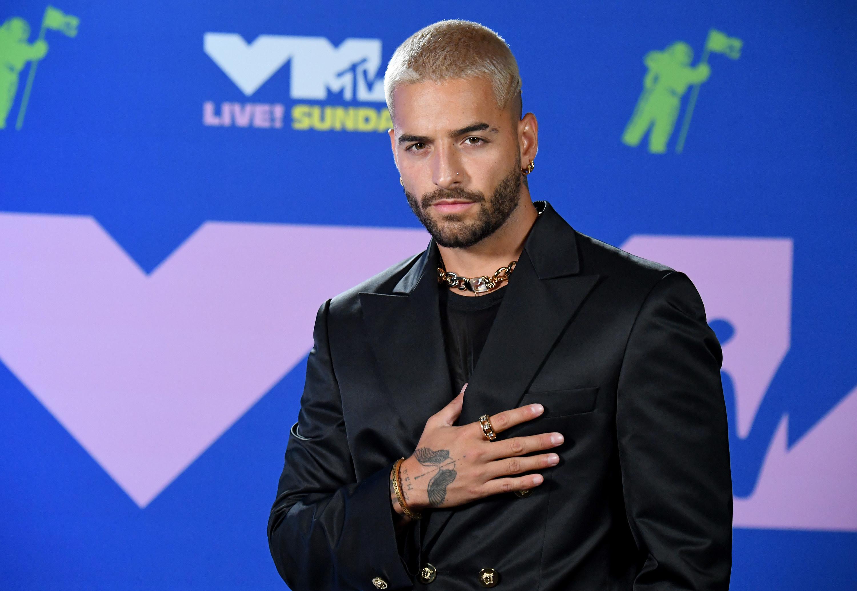Maluma at the 2020 MTV VMAs.