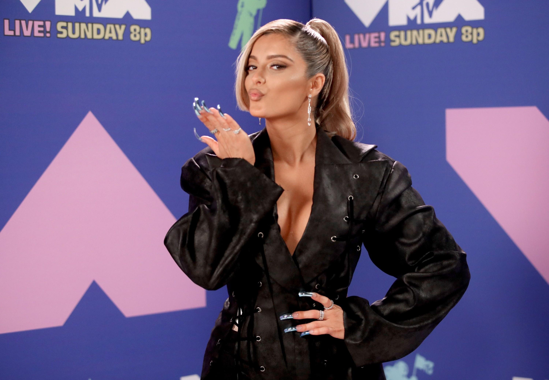 Bebe Rexha at the 2020 MTV VMAs.
