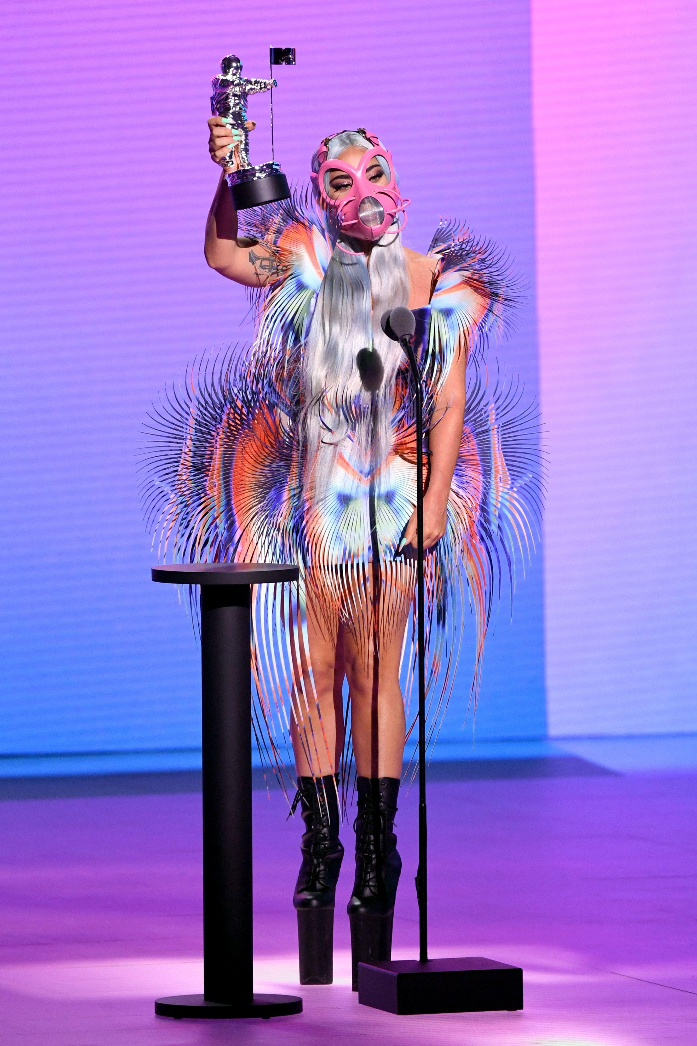 Lady Gaga at the 2020 MTV VMAs.