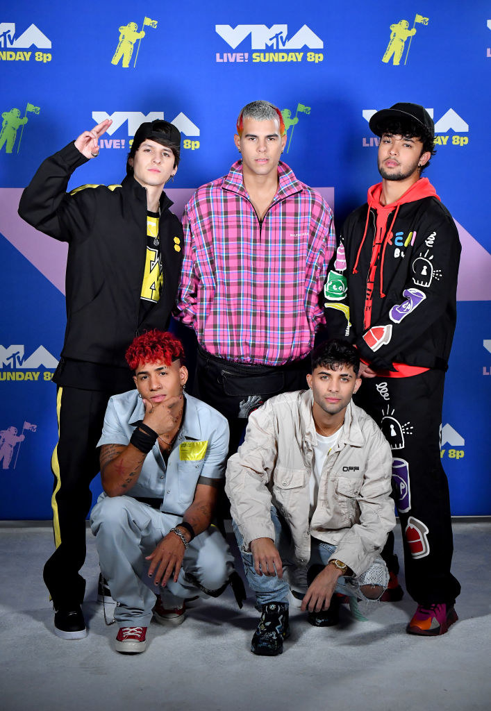 CNCO posed together at the VMAs