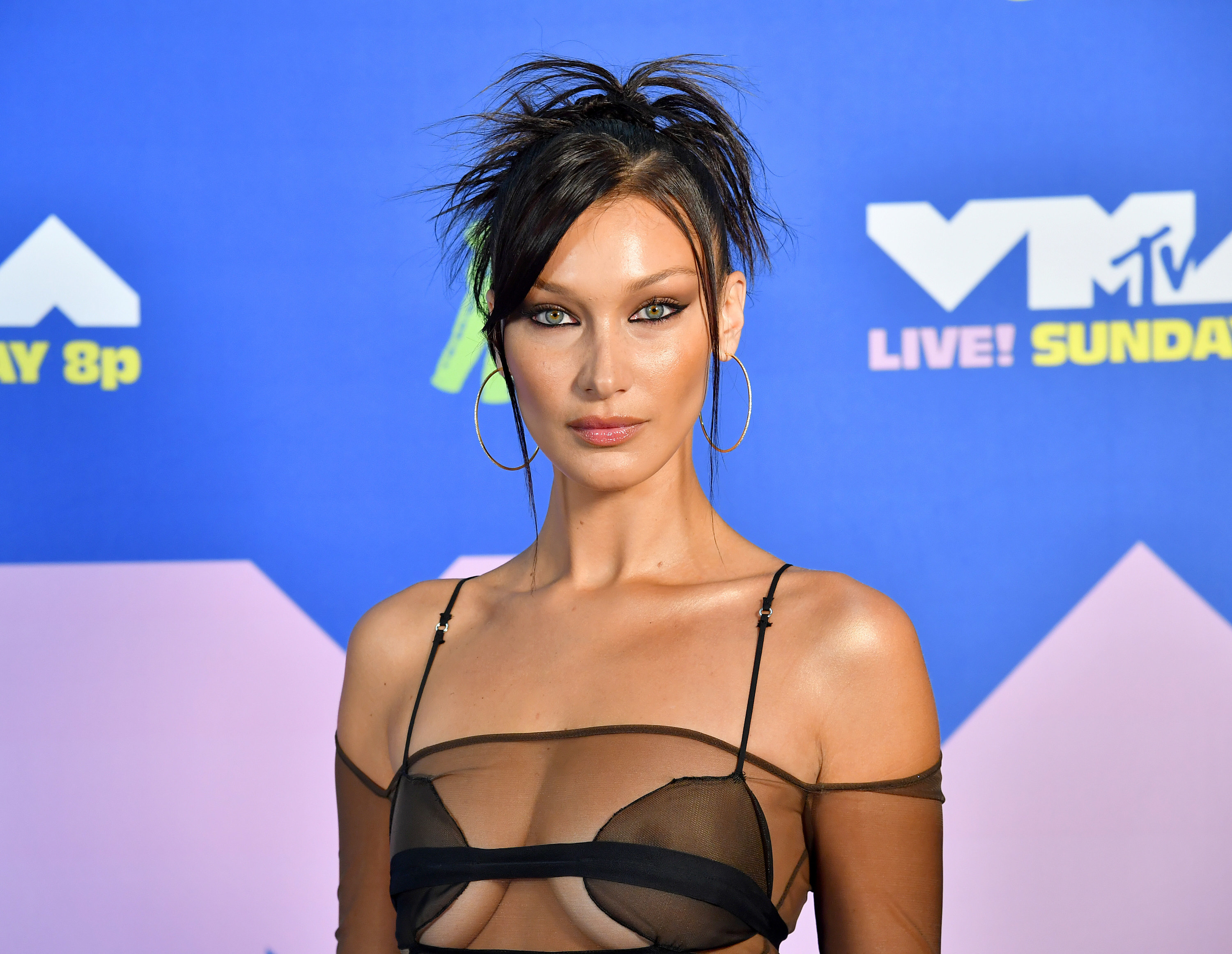 Bella Hadid attends the 2020 MTV Video Music Awards.