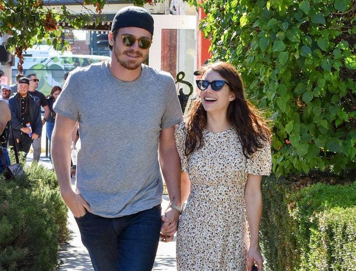 Garrett Hedlund and Emma Roberts walk hand-in-hand in Los Angeles
