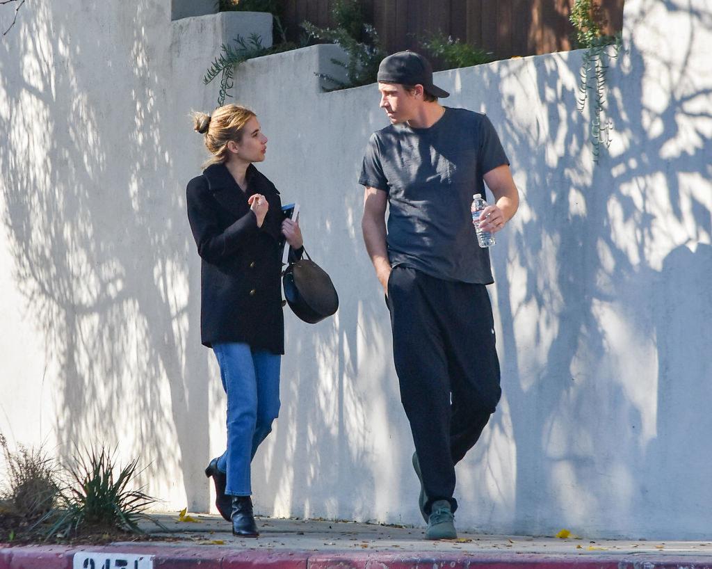 Emma Roberts and Garrett Hedlund go for a walk in Los Angeles