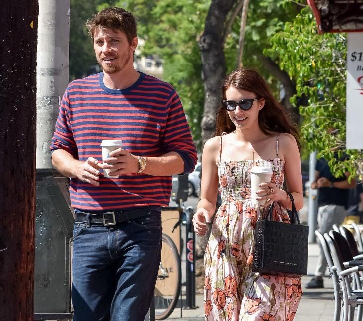 Garrett Hedlund and Emma Roberts took a stroll in Los Angeles