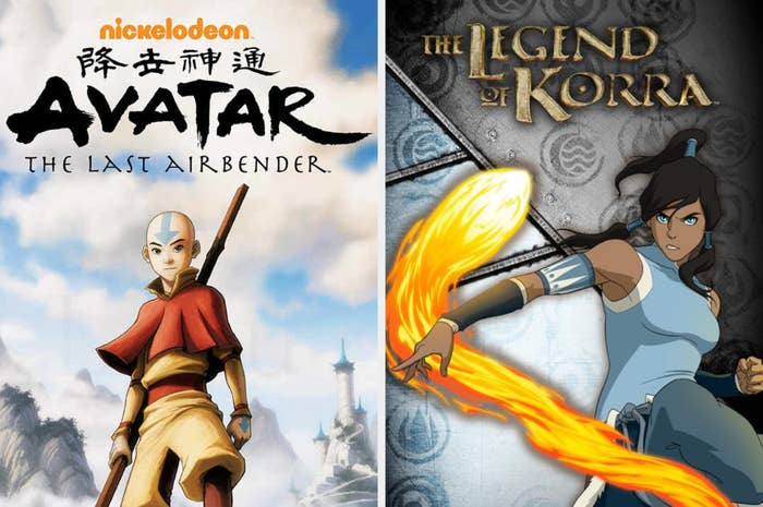 Avatar and Korra as youngsters preparing to save the world