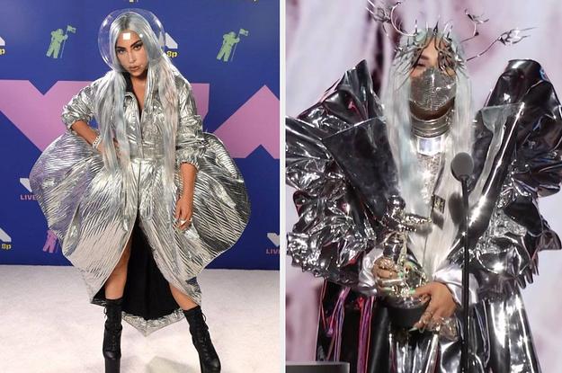 Lady Gaga Face Masks At The 2020 Mtv Vmas