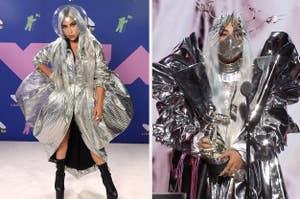 Lady Gaga's face masks at the 2020 MTV VMAs