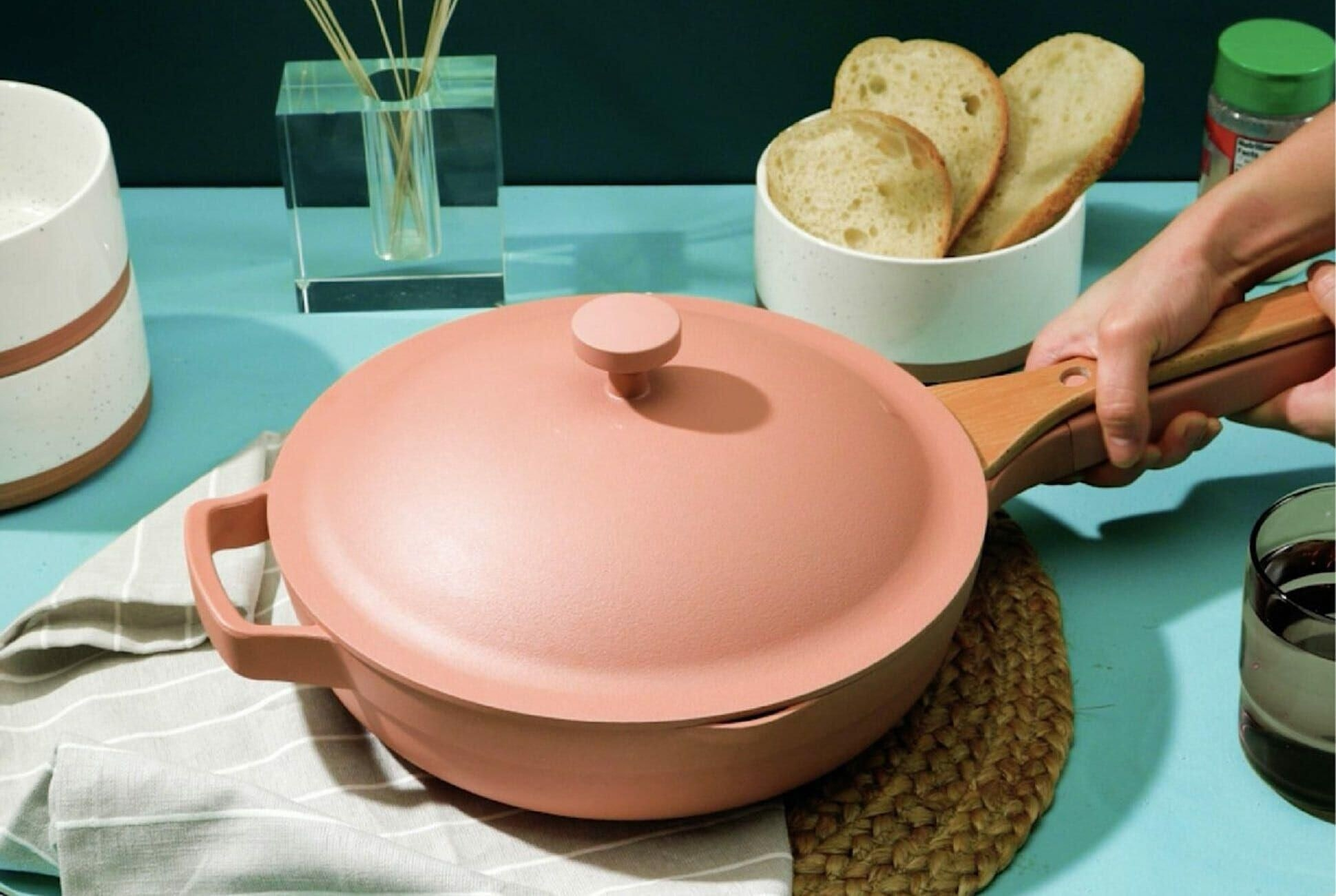 """The Always Pan in the pinkish """"spice"""" color"""