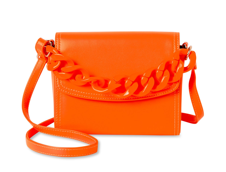 The orange crossbody bag