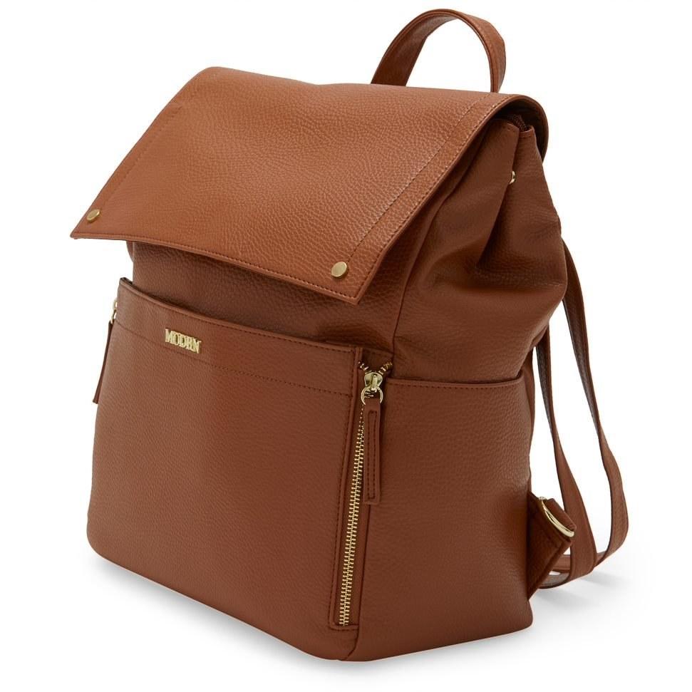 The chestnut, backpack-style diaper bag