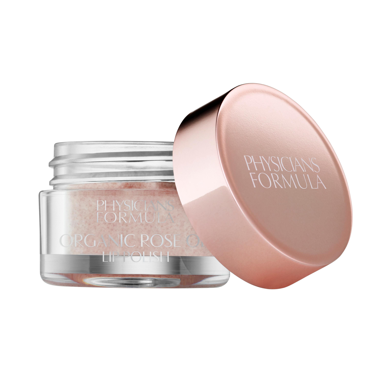 An open jar of the lip polish