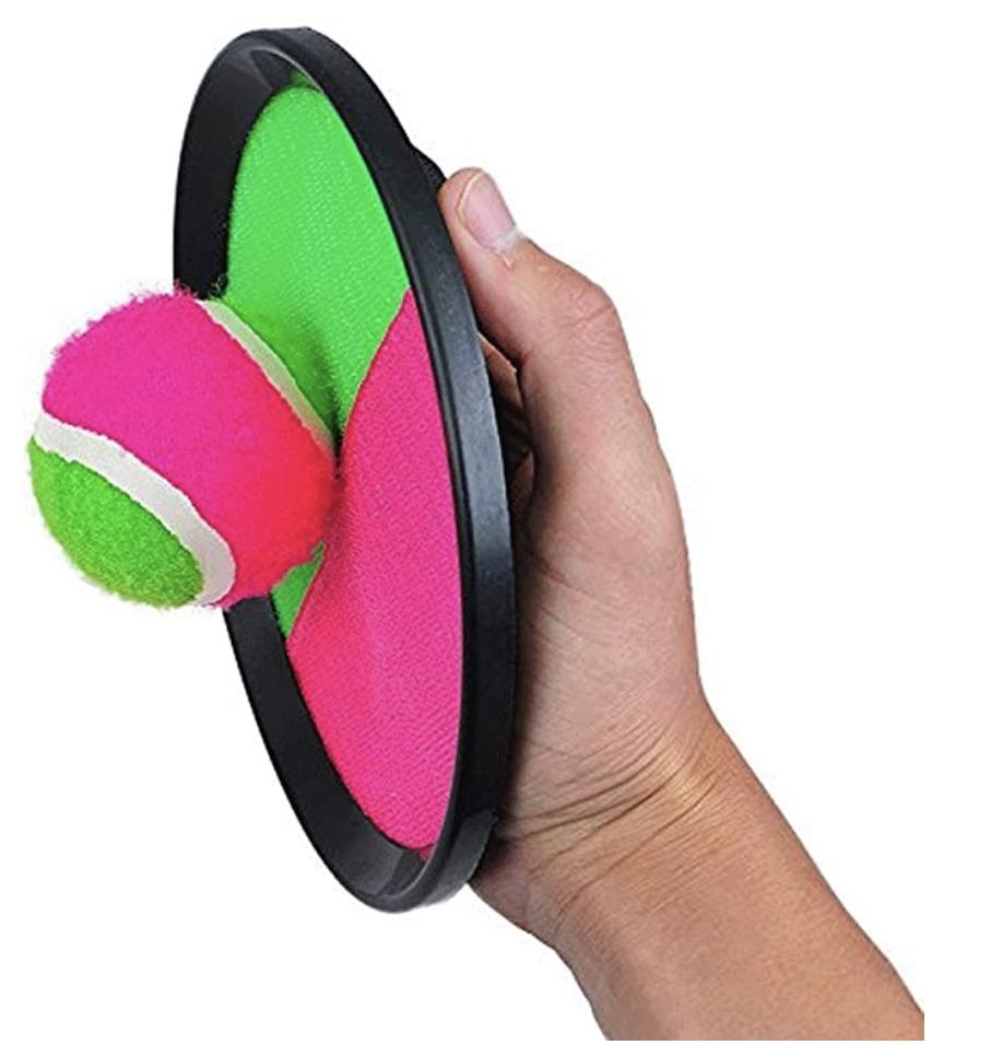 handheld velcro ball throwing game