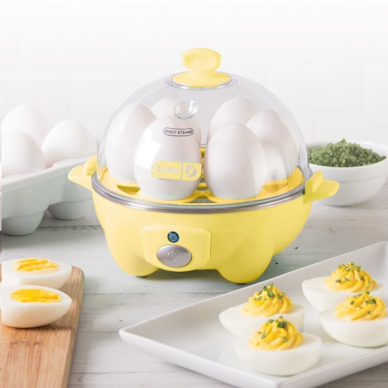 The yellow egg cooker